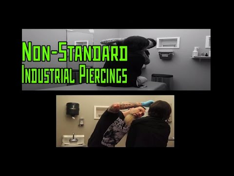 Non-Standard Industrial Piercings- THE MODIFIED WORLD