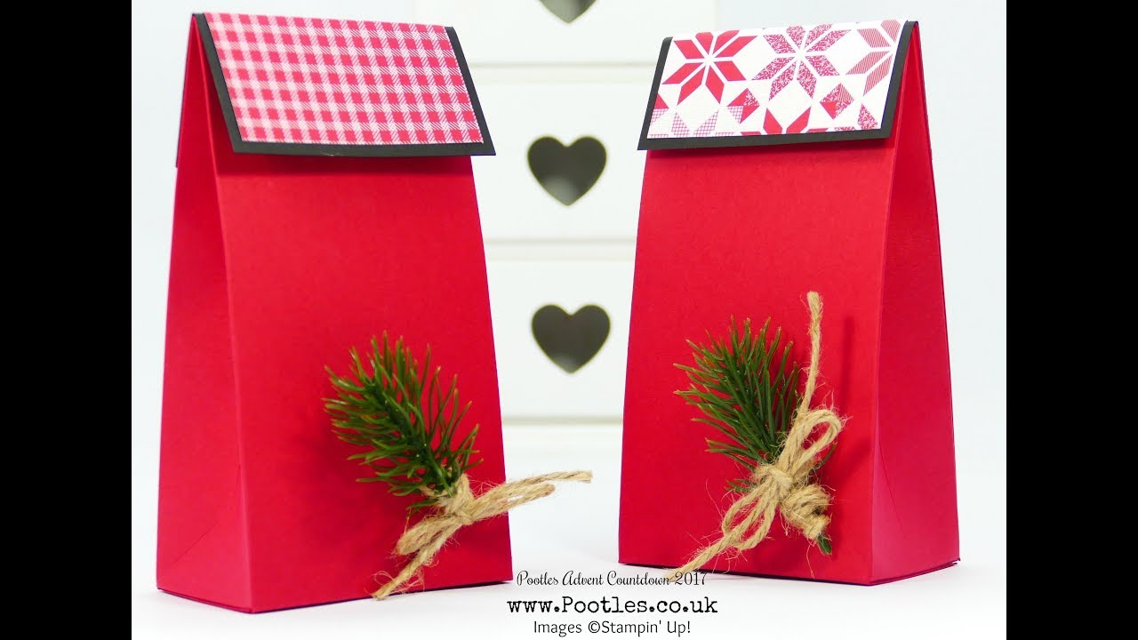 Download Pootles Advent Countdown 2017 #12 Stylish Red Gift Bags
