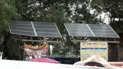 Solar panels in use on New Delhi roof-tops