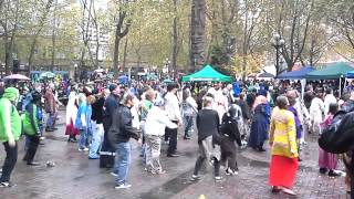 Thriller at Pioneer Square in Seattle - (Guy doesn