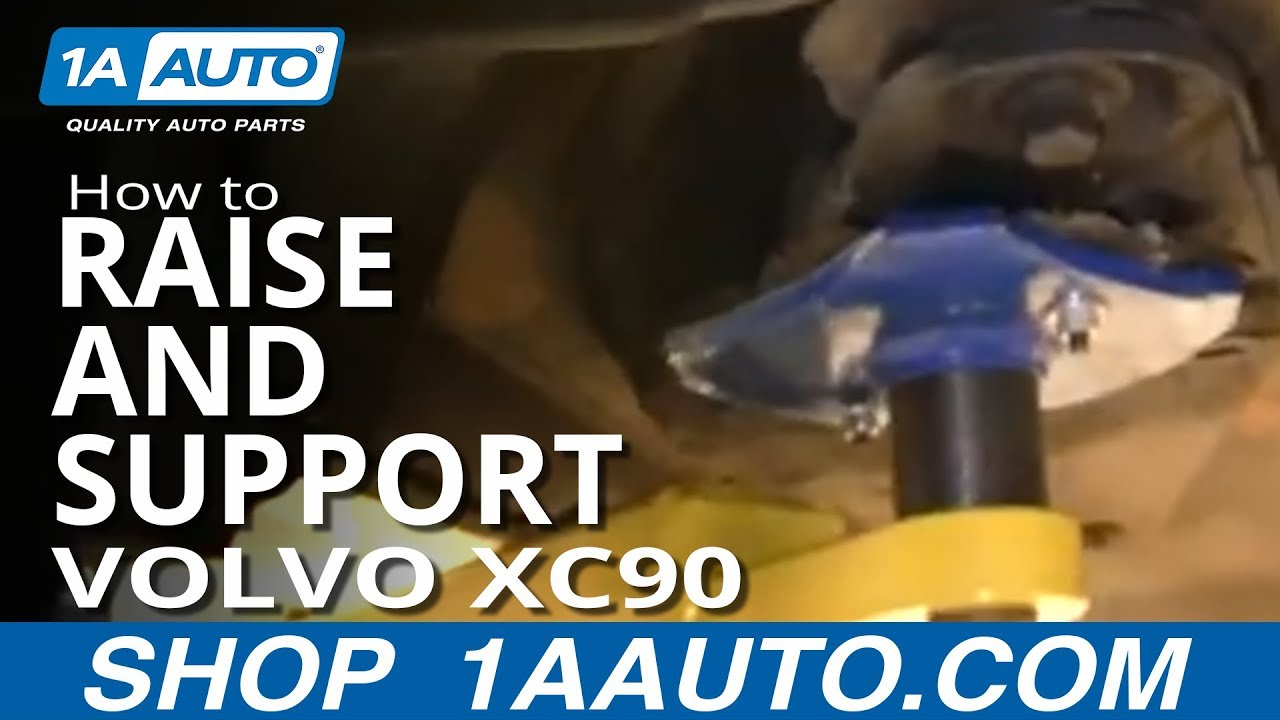 Where to Jack up and support a Volvo XC90  YouTube
