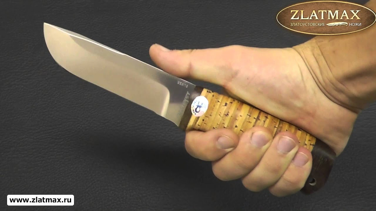 Видео Нож Полярный-2 (95Х18, Наборная береста, Текстолит)