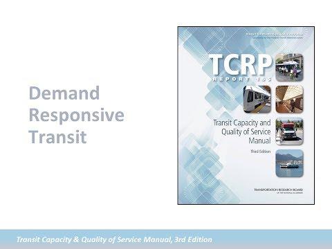 TCQSM: Demand Responsive Transit