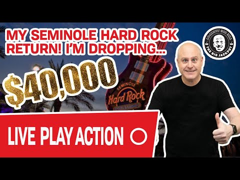 🔴 $40,000 Live Play! 🌴 My Return To Seminole Hard Rock Tampa