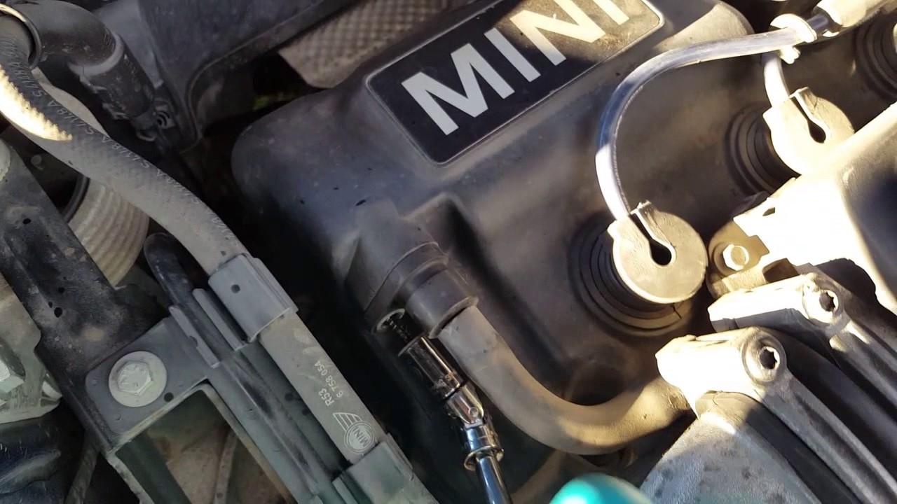 2004 MINI Cooper S R53: Replacing the PCV valve