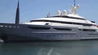 My Azteca 72meter super yacht in Puerto Banus Spain