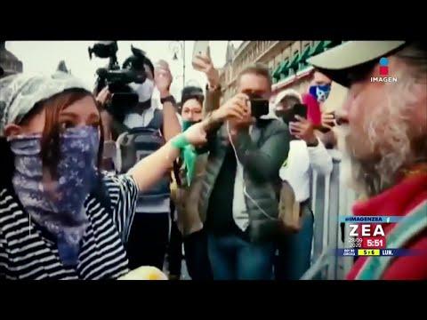 Padre de joven asesinado enfrenta a feminista | Noticias con Francisco Zea