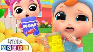Baby's First Lemonade | Lemonade Stand Song | Little Angel Kids Song