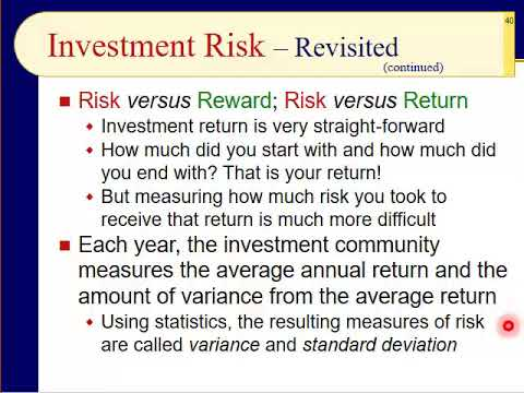 BUS123 Chapter 01 - Risk versus Return - Slides 35 to 54