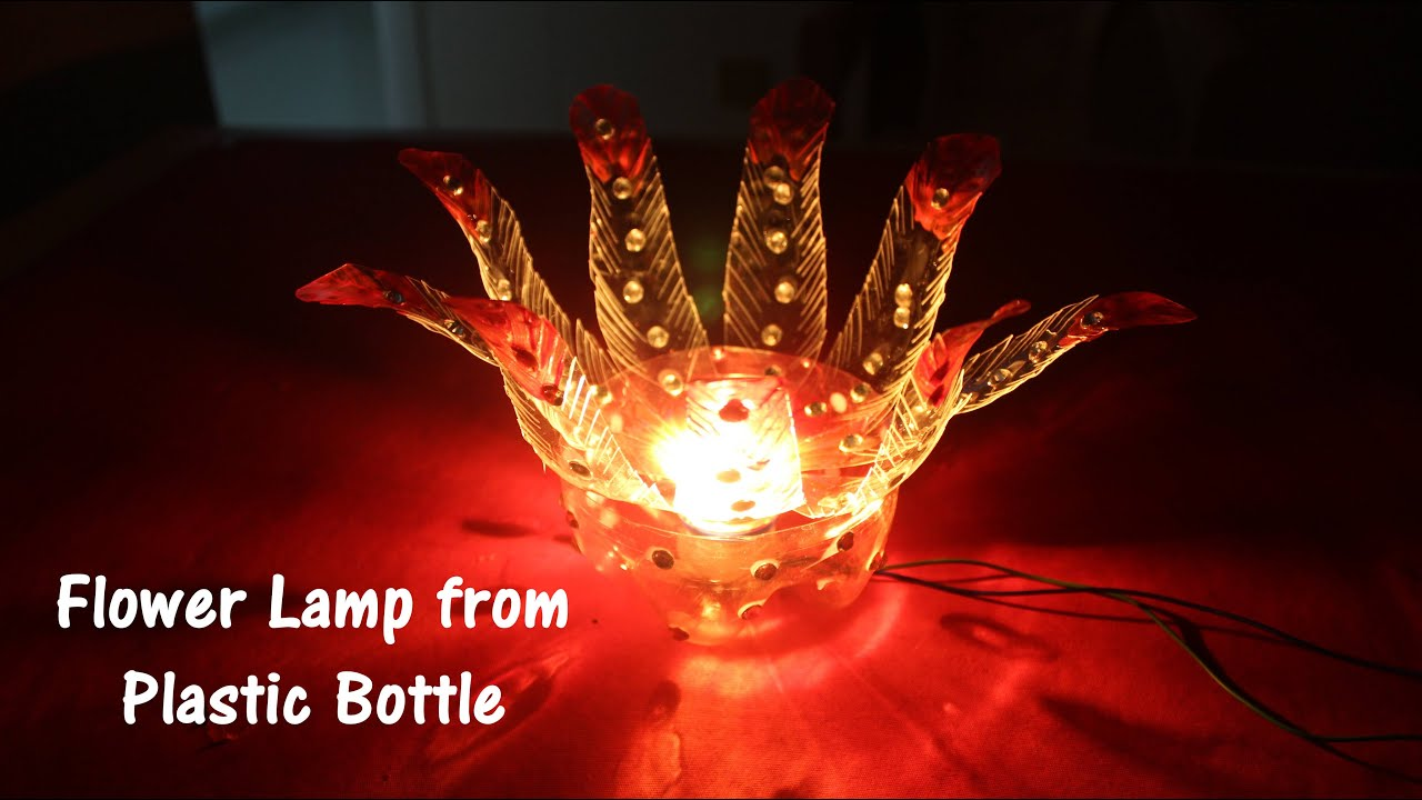 Diy best out of waste plastic bottle flower lamp youtube reviewsmspy