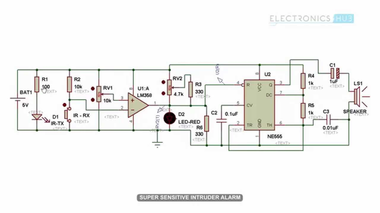 Super Sensitive Intruder Alarm Circuit