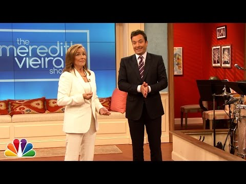 Meredith Vieira Gives Jimmy a Tour of Her Talk Show Set