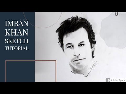 Imran Khan Sketch Tutorial by Miss Rashid thumbnail
