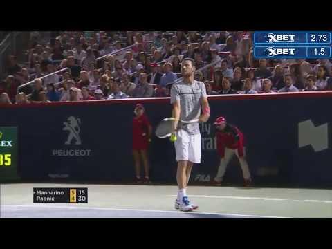 Highlight Milos Raonic vs Adrian Mannarino ATP World Tour Masters 1000. Montreal, Canada 2017