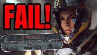 Anthem VIP Demo FAIL! | EA Servers Crash Due to Capacity Issues
