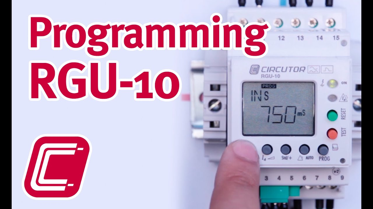 Programming The Earth Leakage Protection Relay Rgu 10 Youtube Electrical Engineering Digital Motor Circuit