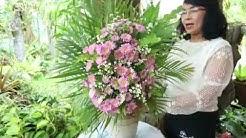 การจัดดอกไม้ทรงสูงแบบง่ายๆ