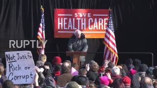 USA: Sanders leads rally of thousands against Republican health policy
