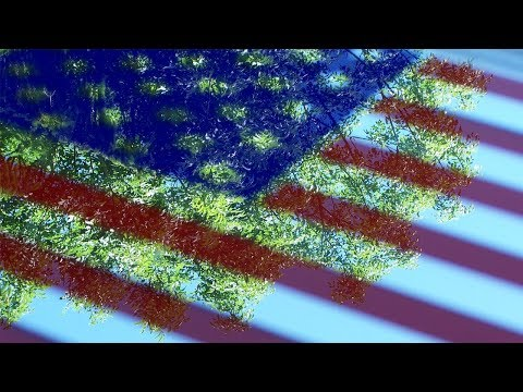 American Flag, Silver Mirror, Usa Glass Art Flags Color