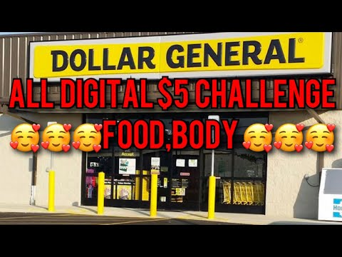 DOLLAR GENERAL COUPONING HAUL $5 CHALLENGE ALL DIGITAL 2 OF THEM