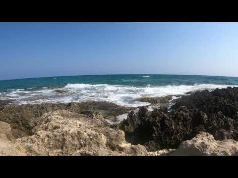 Relaxing Sea on Cyprus - With relaxing sound of sea waves GoPro Hero Black 9 4k 60fps