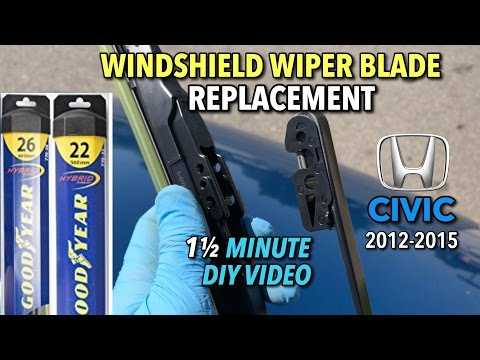 Honda Civic Wiper Blade Replacement 2012-2015 – 1 1/2 Minute DIY Video