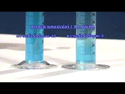 กิจกรรมการเตรียมสารละลายที่ตัวละลายเป็นของแข็งและตัวทำละลายเป็นของเหลว วิทยาศาสตร์ ม.1