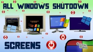 ALL MICROSOFT WINDOWS SHUTDOWN SCREENS 1 0 SERVER 2019