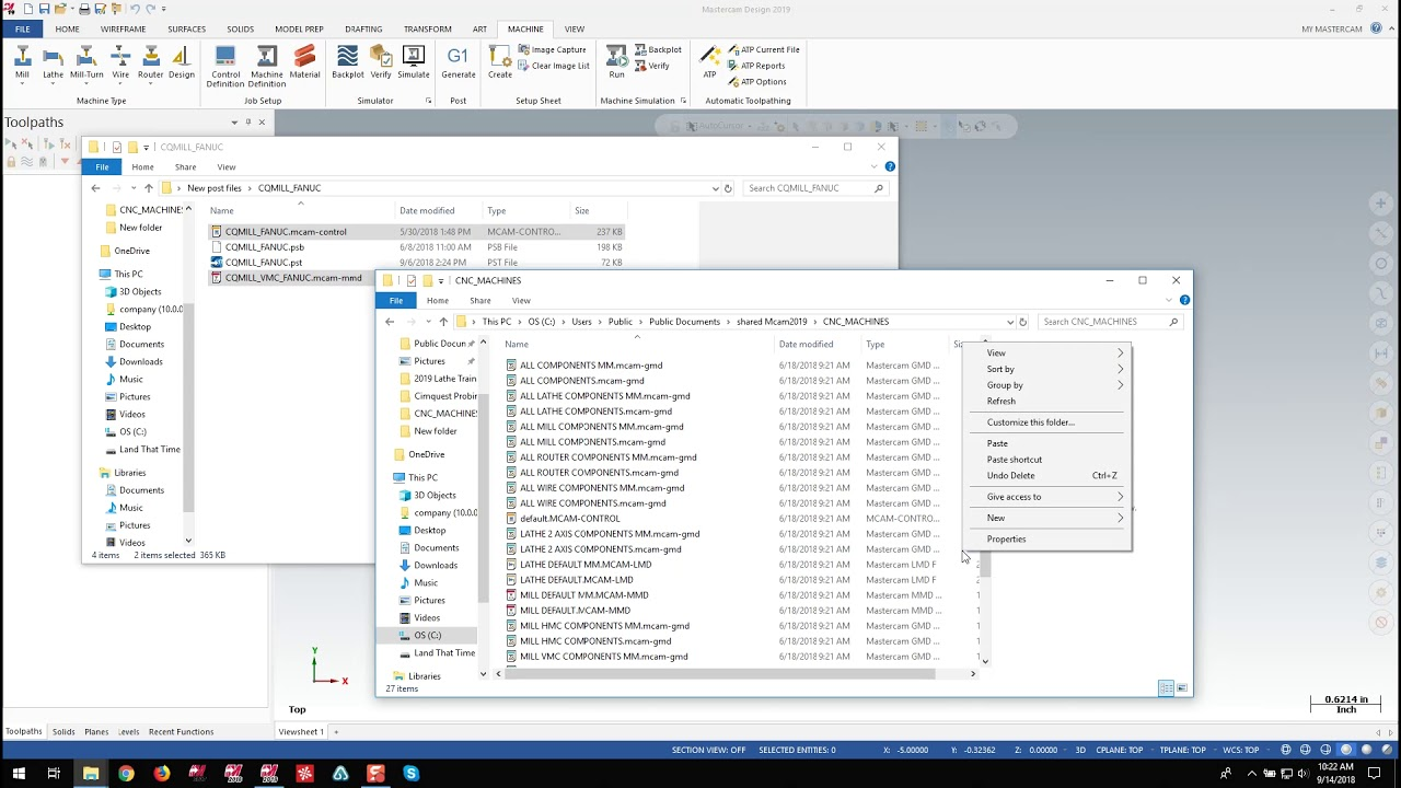 Installing Custom Post Processors - Mastercam 2019