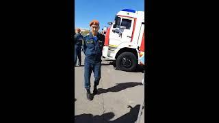 Выставка спецтехники  ГУ МЧС России по Астраханской области.