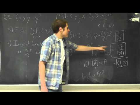 Multivariable Calculus: Lecture 13 - Directional Derivative and the Gradient