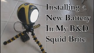 Replacing the Battery in my Stanley Squid Brite Work Light