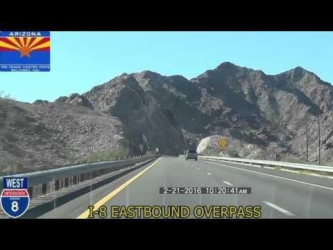 Casa Grande AZ to San Diego CA Interstate 8 2016 HD