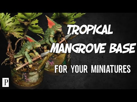 How To Make Tropical Mangrove Bases For Your Miniatures