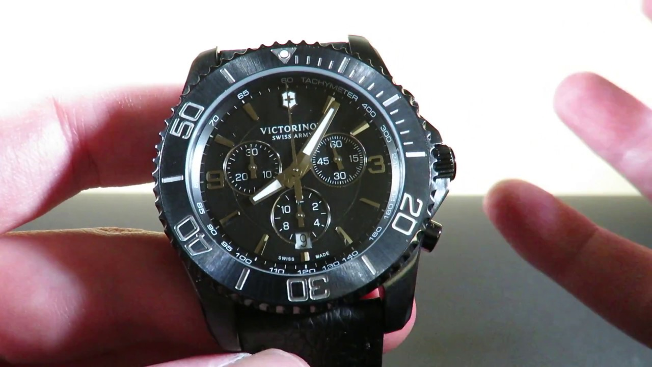 6871fe640f9 Victorinox Maverick Diving Chronograph Watch Review Special Edition Black  NEW