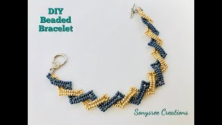 Beaded Bracelet using only seed beads