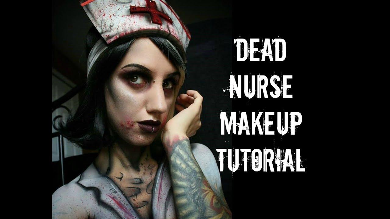 foto de Dead Nurse Halloween Makeup Tutorial YouTube