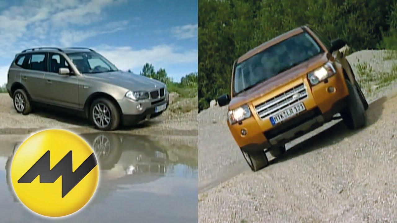 land rover freelander vs. bmw x3 england vs. deutschland - d - youtube