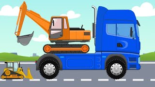 We study Construction Machinery | Educational video about Machines and Cars for Kids