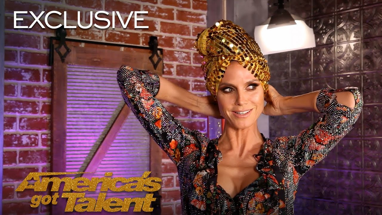 Heidi Klum Creates A Look With The AGT Bag of Fashion - America's Got Talent 2018