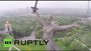 Russia: See iconic Battle of Stalingrad memorial statue via drone