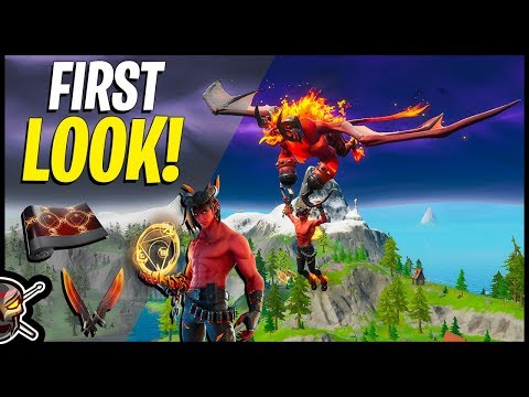DOMINION First Look & Gameplay | Burning Blades | Burning Beast Glider |  (Fortnite Battle Royale)