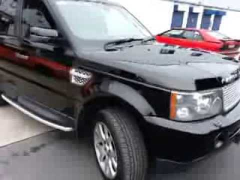 High Gloss Black Vinyl Wrap Range Rover Sport By