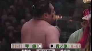 1998年九州場所14日目(琴錦2度目の優勝)