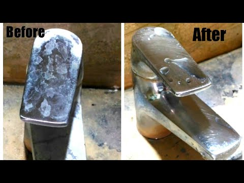 Cleaning Bathroom Taps/How to clean Bathroom Taps Easily /Cleaning Stainless steel pipes DIY