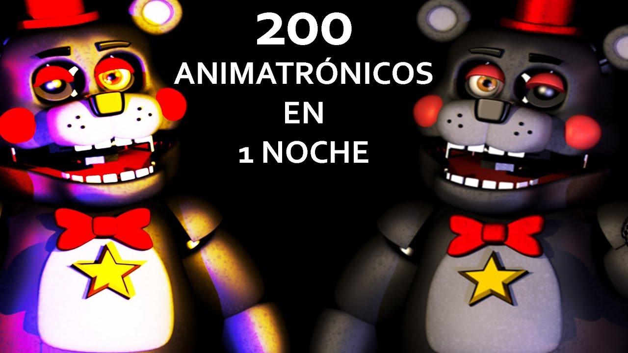 😱 200 ANIMATRÓNICOS EN 1 NOCHE 😱 *IMPOSIBLE* Ultra Custom Night