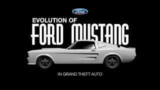Evolution of Ford Mustang in Grand Theft Auto (1967 - 2015)
