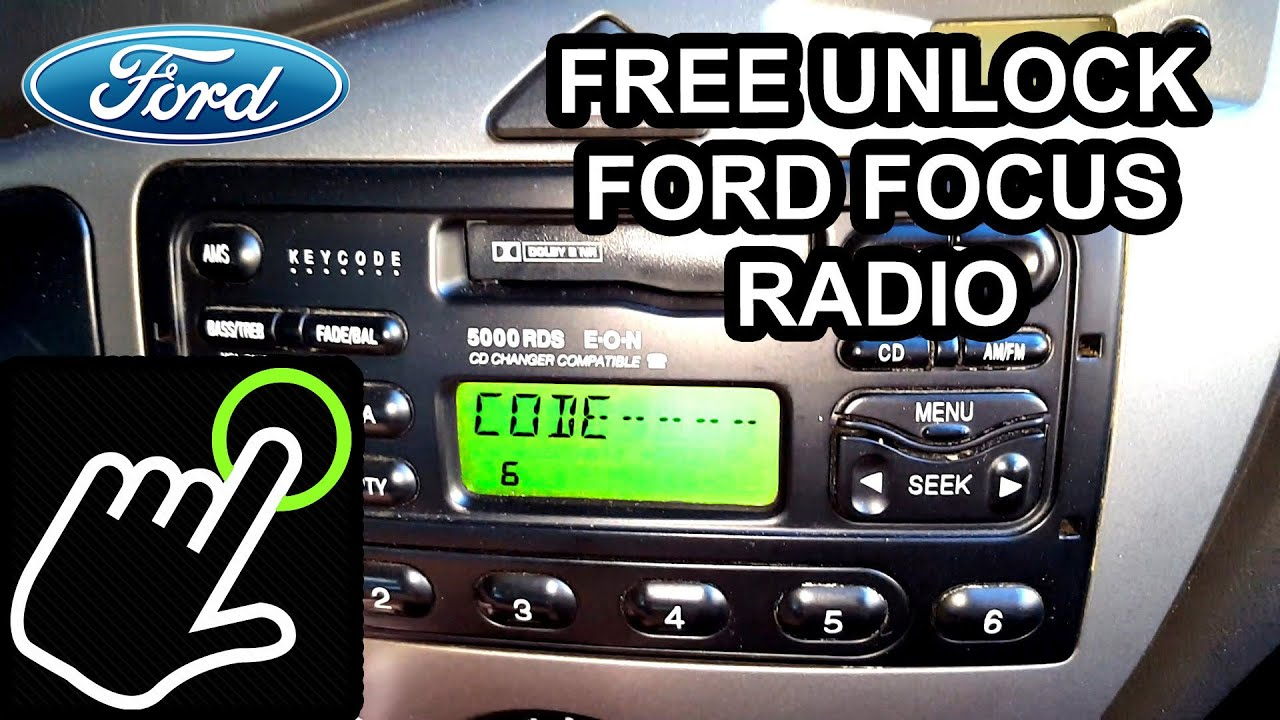 how to get unlock code for free - ford focus radio 5000/6000 rds
