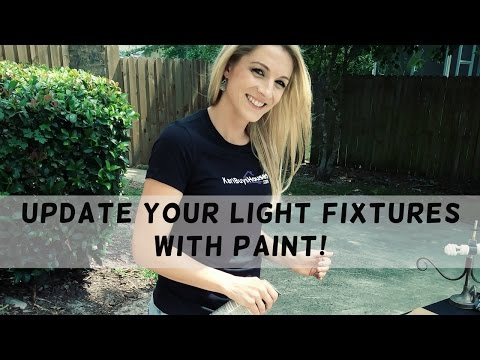Drab To Fab: Update Your Light Fixtures With Paint!