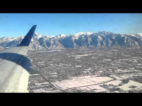 The boys and I flying into Salt Lake City Utah